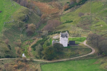 Aerial photography Scotland Scottish castles muchrack castle
