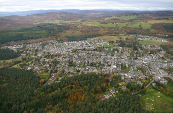 aerial photography scotland scottish scenery grantown on spey