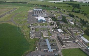 Aerial photography Scotland Perth Airport