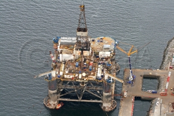 Aerial photography Scotland Sedco 704 oil platform rig