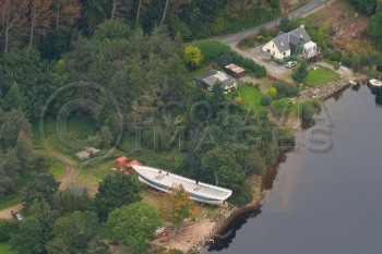 Aerial photography scotland,Spirit of the Tay ship Loch Tay
