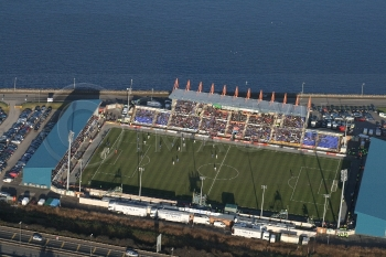 Football Stadium Inverness Caleledonian Thistle aerial Football stadium