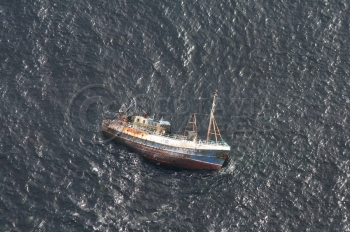 aerial photography scotland Sovereign shipwreck