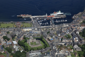 scottish scenery aerial photography scotland rothesay