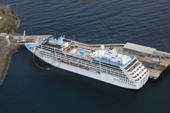 Aerial photography Scotland Azamara Cruiseliner