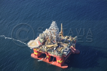 Aerial photography Scotland Stena Don oil platform rig