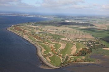 scottish scenery aerial photography scotland Stuart golf