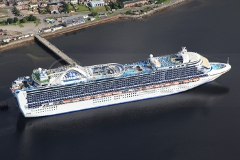 aerial photography scotland crown princess liner