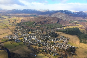 aerial photography scotland scottish scenery Kingussie