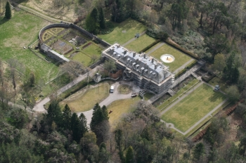 Aerial photography of Scotland Aultmore house owned by Bob Dylan Nethybridge
