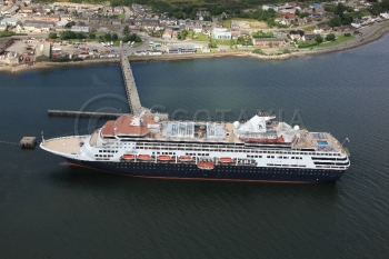 Aerial photography scotland maasdam ship