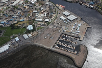 Aerial photography Scotland marina build inverness