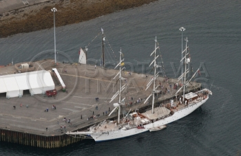 Aerial photography Scotland Christian radich tallship