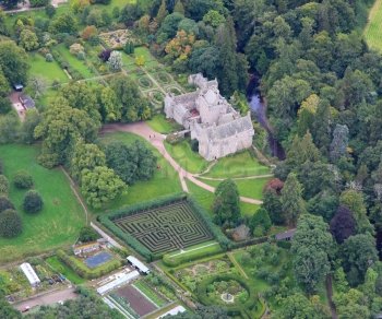 Scottish Castle Cawdor gardens Thane Jacobean Maze