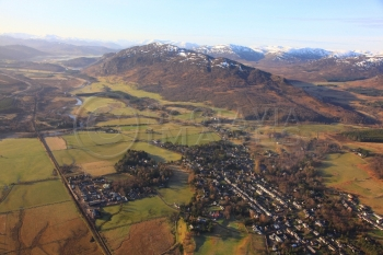 aerial photography scotland scottish scenery newtonmore