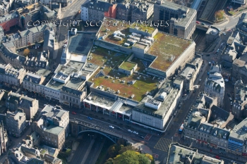 Aerial photography Scotland Aberdeen Union Street
