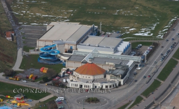 Aerial photography Scotland Aberdeen Beach ballroom