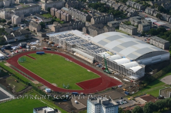 Aerial photography Scotland Aberdeen Chris Anderson stadium