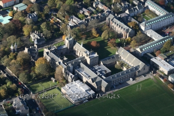 Aerial photography Scotland Aberdeen University