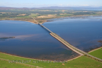 Aerial photography Scotland Dornoch Bridge
