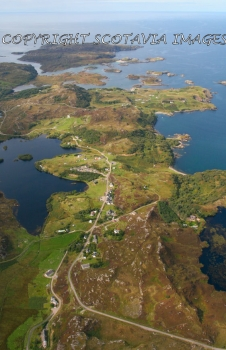 Aerial photography Scotland Drumbeg