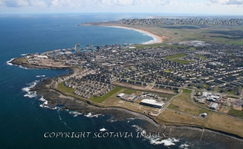 Aerial photography Scotland Fraserburgh Kinnaird head