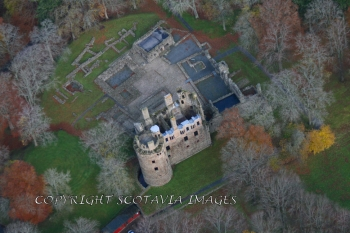 Aerial photography Scotland Scottish Castle Huntly