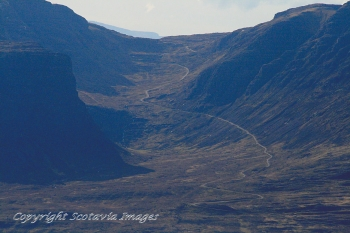 Aerial photography Scotland Scottish scenery Bealach na Bà Applecross peninsula