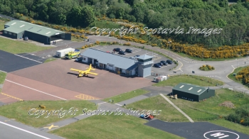 Aerial photography Scotland  Oban Connel  airport terminal
