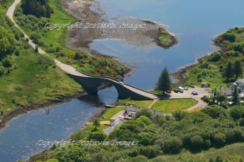 Aerial photography Scotland Scottish scenery Atlantic Bridge,Seil Island