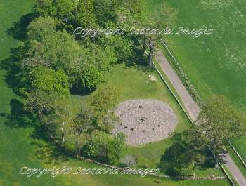 Aerial photography Scotland Templewood stone circle,Kilmartin glen