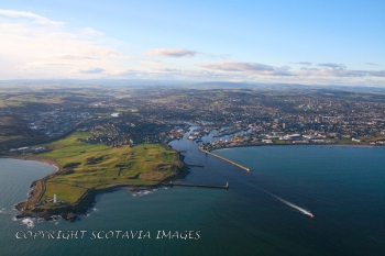 Aerial photography Scotland Scottish scenery Aberdeen from the sea