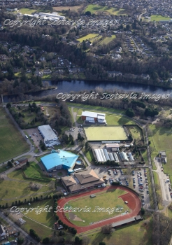 Aerial photography Scotland  Inverness Bught park sports leisure centre