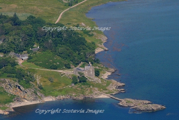 Aerial photography Scotland Duntrune castle