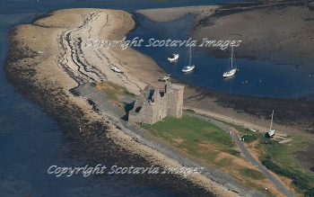 Scottish Castle  Aerial photography Scotland Lochranza Castle Isle of Arran