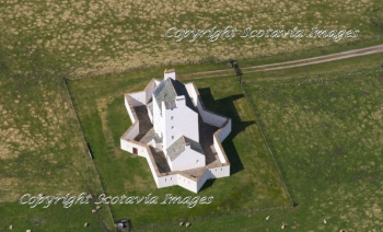 Aerial photography Scotland Corgarff castle 2