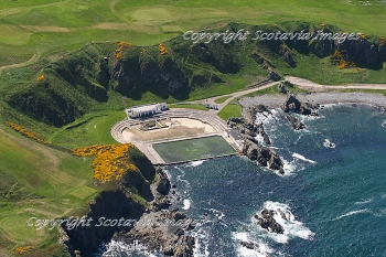 Aerial photography Scotland  Tarlair pool