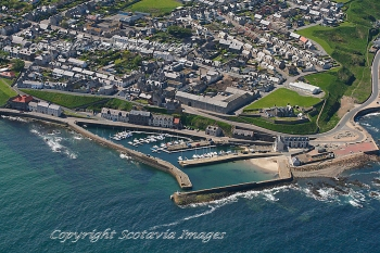 Aerial photography Scotland  Banff Harbour