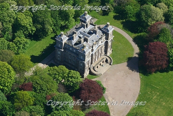 Aerial photography Scotland Duff House near Macduff