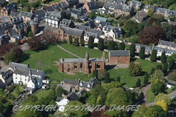 Aerial photography Scotland  Fortrose Cathedral