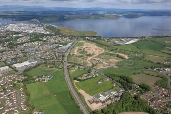 aerial photography scotland scottish scenery Inverness Beechwood A9