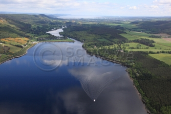 Aerial photography scotland Loch Ness North aerial view