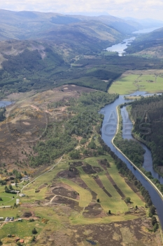 aerial photography scotland scottish scenery Great Glen,Loch Oich