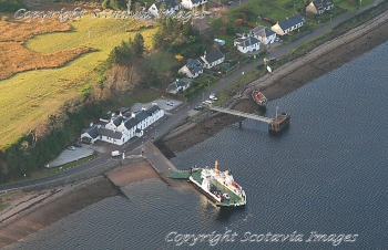Aerial photography Scotland Ferry at Corran