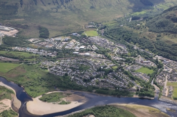 aerial photography scotland scottish scenery Fort William