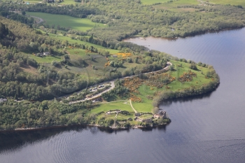 aerial photography scotland scottish scenery urquhart castle