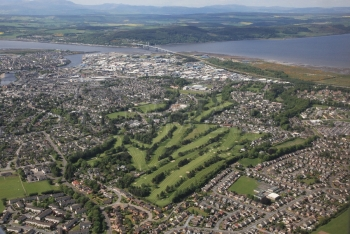 Aerial photography Scotland scottish scenery Inverness Golf course Culcabock