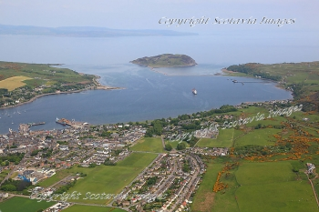 Scottish Scenery  Aerial photography Scotland Cambeltown
