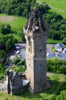 Aerial photography Scotland Wallace memorial Stirling