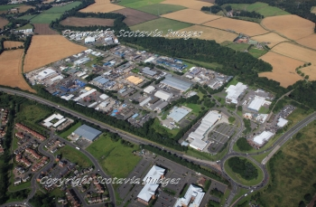 Aerial photography Scotland Perth Almondbank